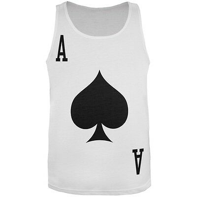 Halloween Ace of Spades Card Soldier Costume All Over Adult Tank Top - Ace Of Spades Halloween Costume