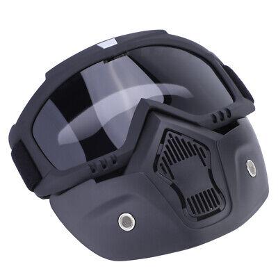 Motorrad Maske Schutzhelm Schutzbrille abnehmbare Schild Gesichtsmaske Grau BUY