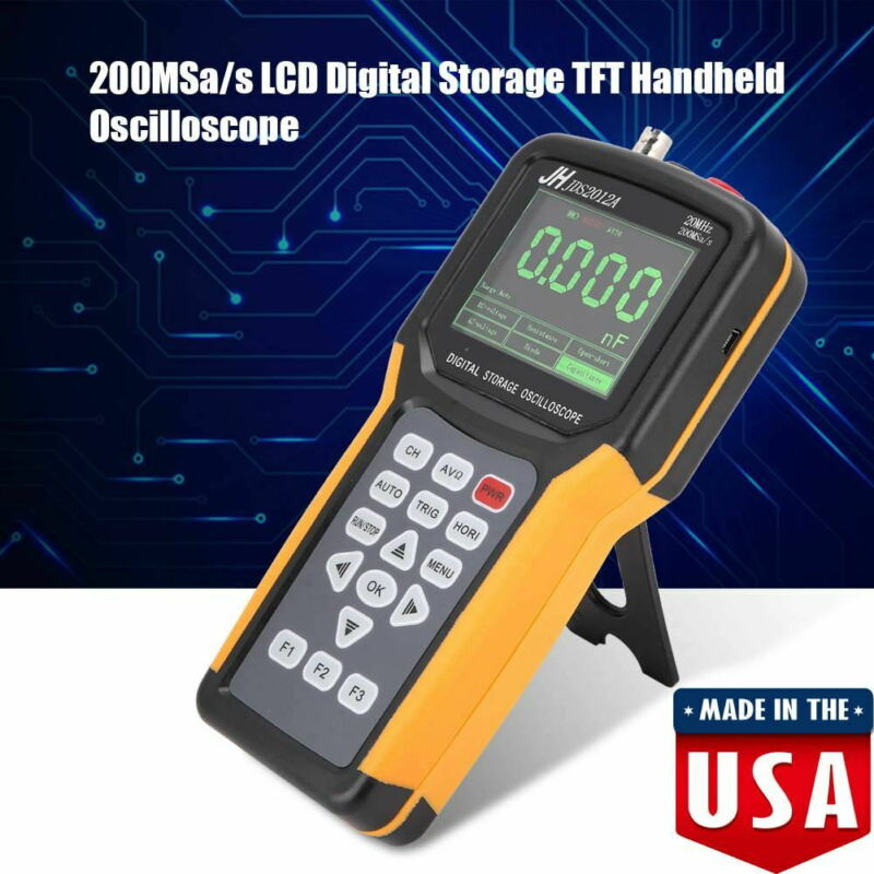 Yosoo JDS2012A Handheld Digital Oscilloscope 20MHz 200MSa/S Automotive scope DM