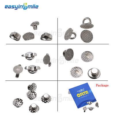 Easyinsmile Dental Orthodontic Lingual Buttons Bondable Mim Mesh Base 10pcsbag