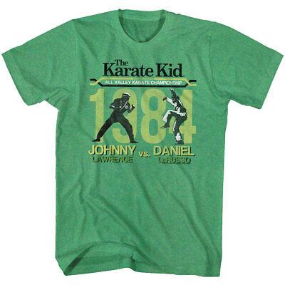 Johnny Karate Kid (Karate Kid 1984 Championship Johnny VS Daniel Adult T Shirt Great Classic)