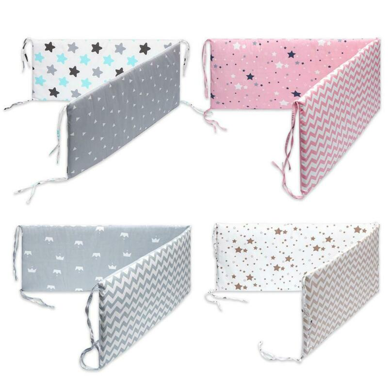 Baby Toddler Crib Bumper Pads Guard Safety Liner For King Qu