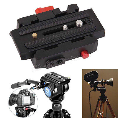 Quick Release Clamp Adapter + QR Plate P200 Compatible for Manfrotto etc 78S8