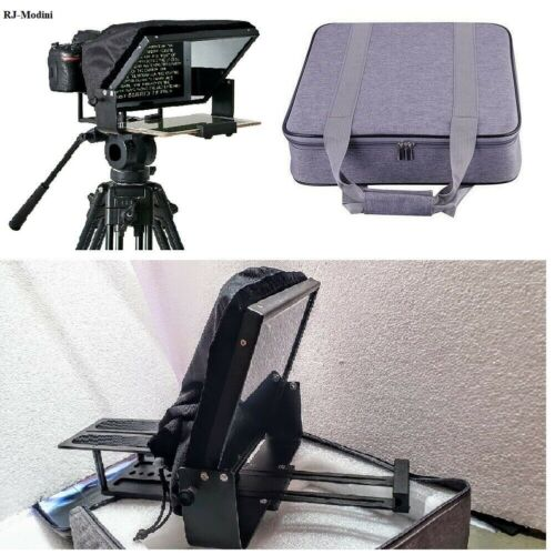 """Large, 12"""" screen, Adjustable Teleprompter for 10"""" Tablet-iPad-Smartphone. HQ"""
