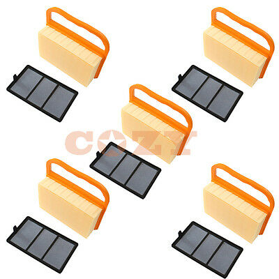 5x Air Filter Sets For Stihl Ts410 Ts420 Ts 420 Ts 410 Concrete Cutoff Chop Demo