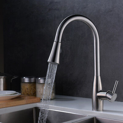 Rally Out Kitchen Faucet Single Handle Pull-Down Sink Faucet Tap Stainless steel