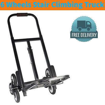Wheel Stair Climber 150kg Heavy Duty 6 Climbing Flat Bed Hand Truck Sack Trolley