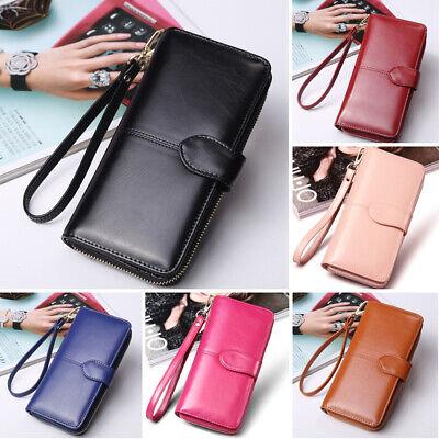 Fashion Lady Women Leather Clutch Wallet Long Card Holder Case Zip Purse Handbag