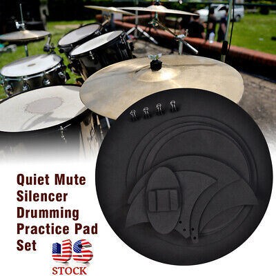 10 Pcs Bass Drum Sound off Mute Silencer Drumming Rubber Practice Pad (Bass Drum Silencer Pad)