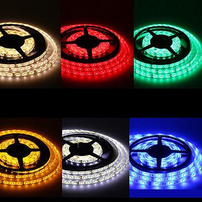 Waterproof Super Bright 5M 3528 5050 SMD 300/600 LED Flexible Strip light 12V US