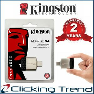 Micro SD Card Reader Kingston MobileLite G4 USB3.0 Multi Memory SDHC Card Reader