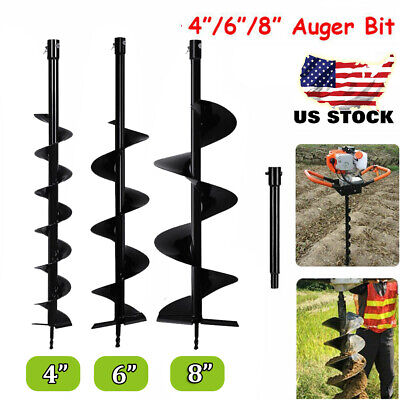 4 6 8 Earth Fence Garden Post Hole Digger Auger Drill Bit Planting Cast Steel Rd