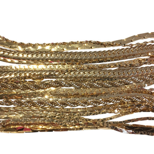 Bulk Sale, 10 pairs of golden tone chains, jewelry necklace different styles