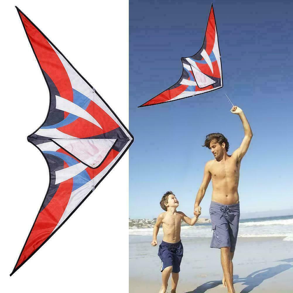 "Huge Rainbow Delta Kites For Kids & Adults-47"" Wide Stripe L"