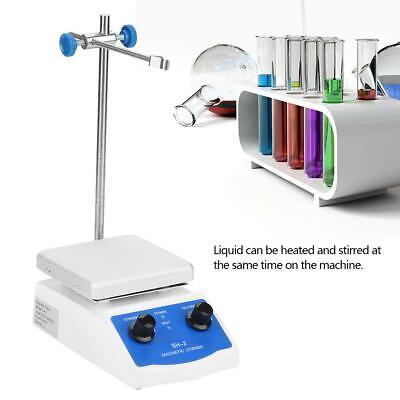 Sh-2 Magnetic Stirrer Hot Plate Dual Controls Heating Plate Stir Bar Laboratory