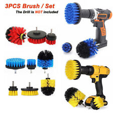3Pcs Tile Grout Drill Brush Cleaning Power Scrubber Tub Cleaner Attachment Kit