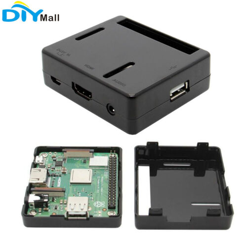 DIYmall Black Plastic ABS Case for Raspberry Pi Model 3 A+