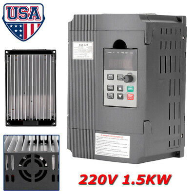 220v 1.5kw 8a Single Phase Vfd Variable Frequency Filter Drive Speed Inverter Us