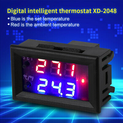24v Digital Led Microcomputer Thermostat Controller Switch Temperature Sensor Us