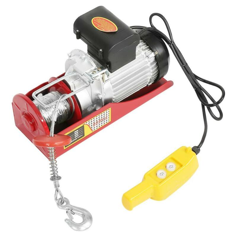 1320LBS 110V Electric Cable Hoist Crane Lift Garage Auto Shop Winch with Remote