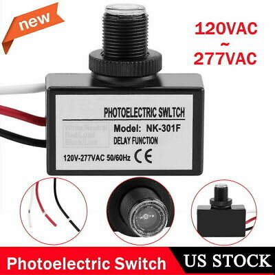 Photoelectric Switch Light Sensor Control Automatic Onoff For Lighting Fixtures