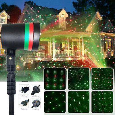 Mobil Star LED Laser Licht Projektion Draussen Beamer Weihnachten Garten Dekor (Weihnachten Garten Dekor)