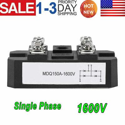 1 Pcs Single-phase Diode Bridge Rectifier Mdq 150a Amp High Power 1600v Hot Sale