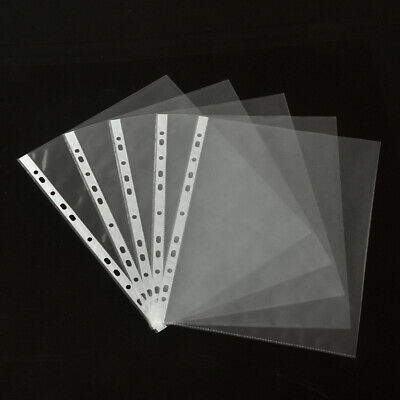 100pcs A4 Waterproof Case Transparent Document Bag Paper Holder File Folder