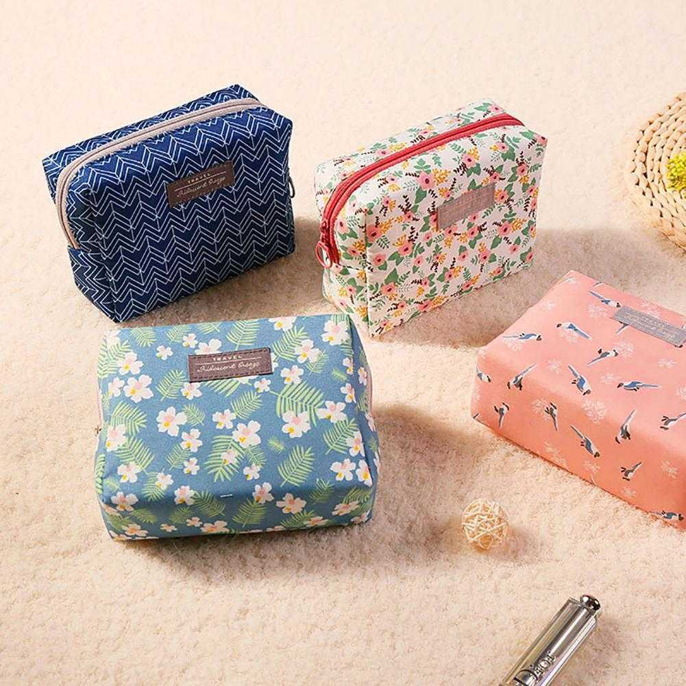 Ladies Floral Print Wash Bag Toiletry Cosmetic Travel Organizer