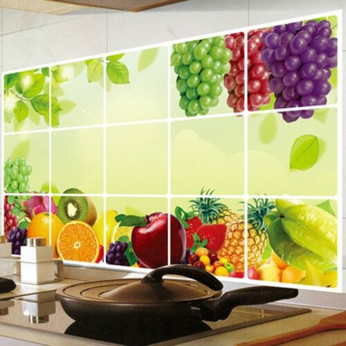 Öldicht Wandtattoo Obst Weinrebe Wand aufkleber Sticker Küche Dekorative Neu