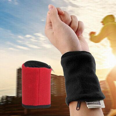 Frottee Armband Schweißband Wristband Handgelenk Sport Brieftasche Unisex
