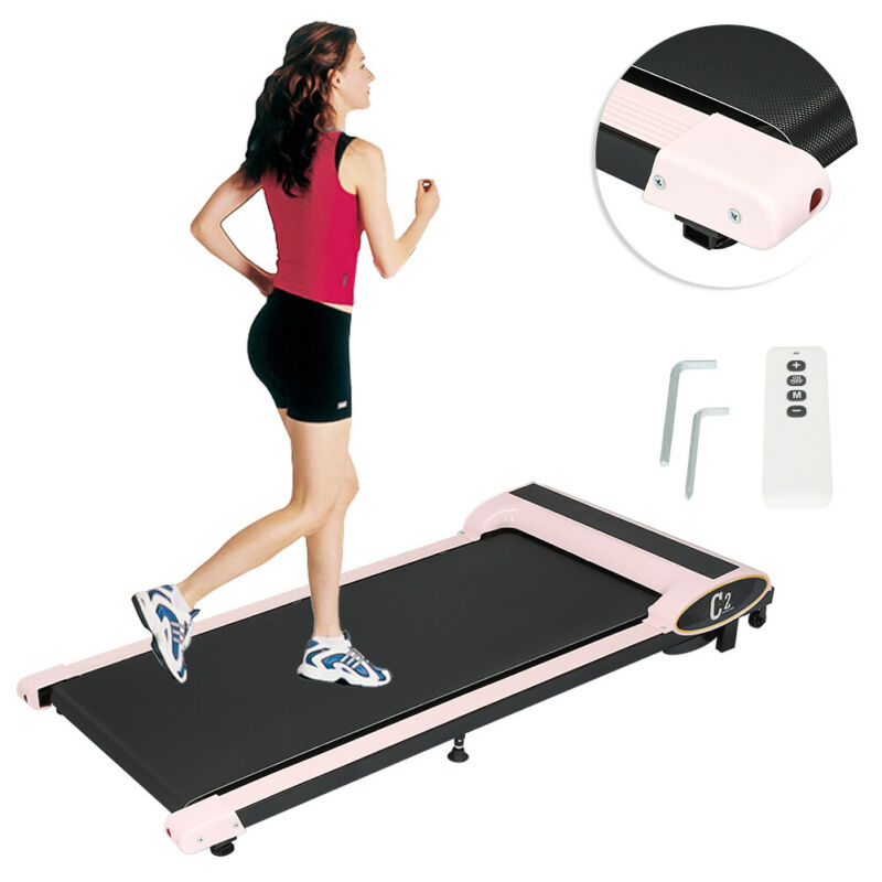 HQ Under Desk Treadmill Walking Pad Exercise Machine Remote Control Home Office