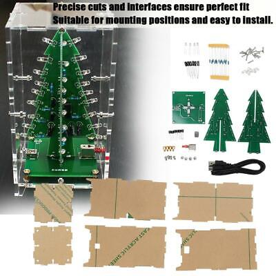 Colorful DIY LED Flash Light Christmas Tree MP3 Music Electronic Kit Gift Decor ()