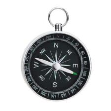 Portable G44-2 Outdoor Aluminum Camping Compass Keychain For Presents Gift S5U5