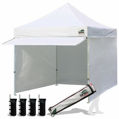 10x10 White Pop Up Instant Canopy Gazebo Party Tent Trade Show Tent Side Walls
