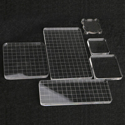 - Clear Acrylic Stamping Block Grid and Grip Scrapbook Craft Making Essential Tool