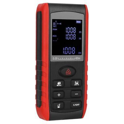 60m Digital Handheld Laser Distance Meter Range Finder Measure Diastimeter