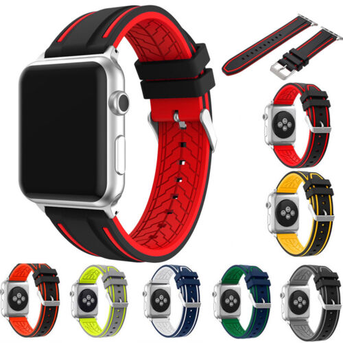 Sports Strap For Apple Watch Band iWatch 4/3/2 42/44mm Gel Wrist Bracelet Band Jewelry & Watches