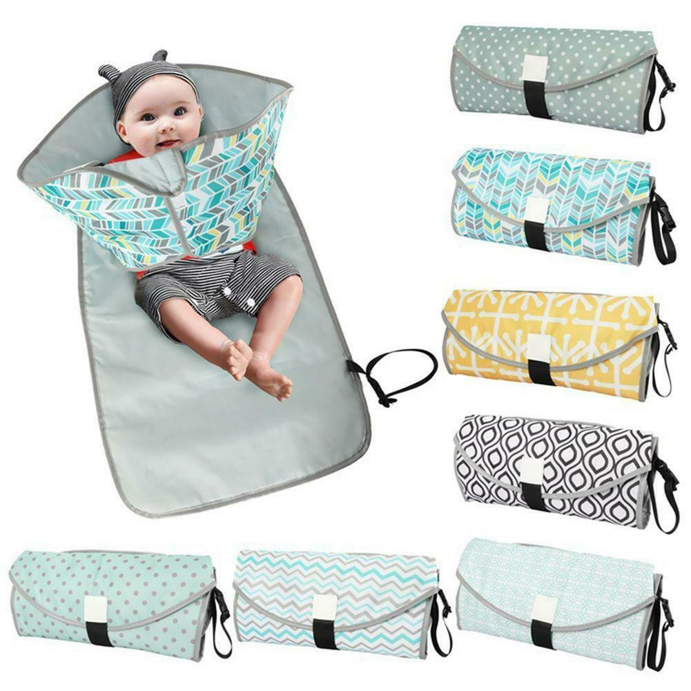 Waterproof Baby Nappy Changing Mat Foldable Washable Portable Travel Diaper Mat