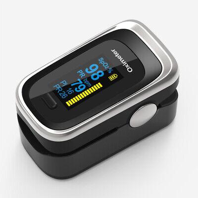 Black Finger Pulse Oximeter Pr Pi Respiratory Rate Fda Blood Oxygen Spo2 Monitor