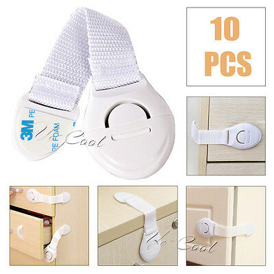 10x Kids Child Baby Pet Proof Door Fridge Cupboard Cabinet Drawer Safety Lock UK