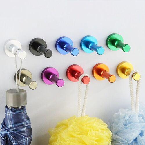 DIY Wand Tür Aufhänger Haken Tuch Kleidung·Hut Schlüssel Tasche KücheBadezimmer#