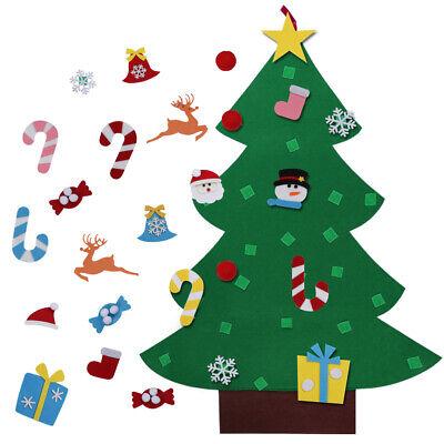 Halloween Tree Decorations Diy (Kids Children DIY Felt Christmas Tree Ornament Gift Happy New Year Xmas Decor)