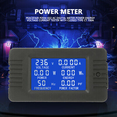 Pzem-022 Ac Digital Meter Power Energy Voltage Current Test Wclosed Type 100a