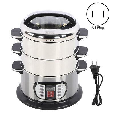 3 Tier 3L Healthy Cooker Electric Food Steamer Digital Pot S