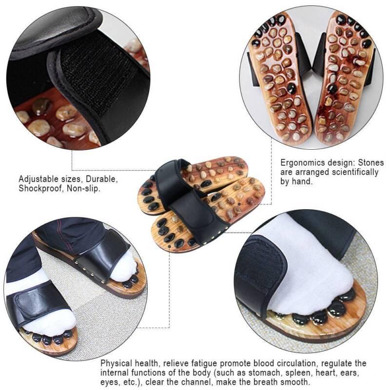 1 pair reflexology sandals foot massager slippers