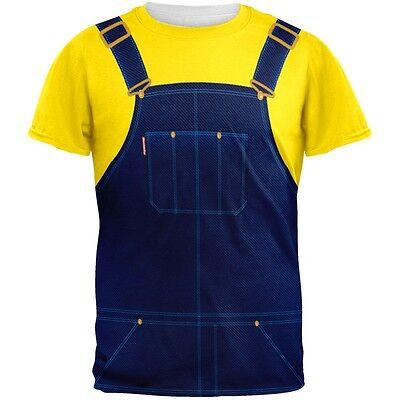 Halloween Overalls Yellow T-Shirt Costume All Over Adult T-Shirt - Halloween Costumes Overalls