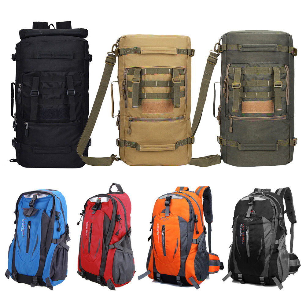 50L Open-air Tactical Molle Military Rucksacks Backpack Travel Camping Bag Large