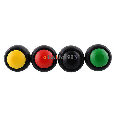 4pcs Mini 12mm Waterproof Momentary Onoff Push Button Round Switch