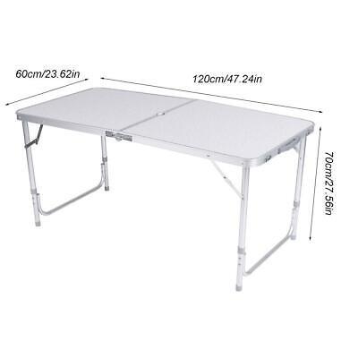 Mesa Plegable de Aluminio 120*60*70/62/55 CM Ajustable Para Camping Jardín BBQ